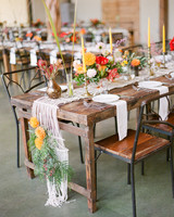hayleigh corey wedding rustic tablesscapes with candles