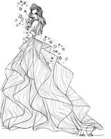 hayley paige wedding dress sketch