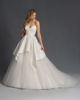 strapless v-neck tulle skirt a-line wedding dress Hayley Paige Spring 2020