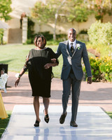 henery michael wedding processional groom and mother