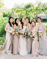 Adrianna Papell and Jenny Yoo bridesmaids dresses