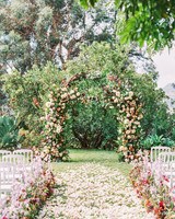 jamie and michael wedding ceremony arch