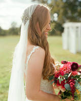 jen geoff wedding bride and veil