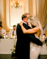 bride sharing first dance with father