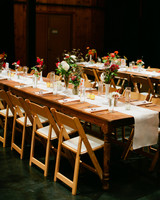 Long Casual Reception Tables