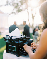 jessica brian wedding typewriter