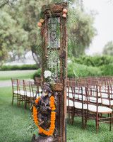 california indian jewish wedding outdoor ceremony decor