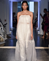 lakum wedding dress fall 2018 strapless billowy loose
