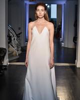 lakum wedding dress fall 2018 sheath v-neck strapless
