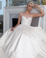 Legends Romona Keveža spaghetti strap wedding dress fall 2019