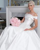 Legends Romona Keveža off the shoulder ball gown wedding dress fall 2019