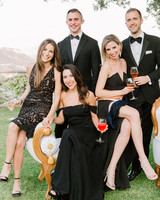 lisa greg italy wedding guests black tie attire