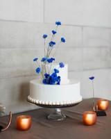 madison kyle wedding cake blue with candles