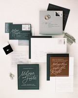 melissa justen wedding invitation suite