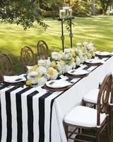 Black and Yellow Reception Table