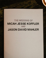 micah jason wedding program same sex jewish