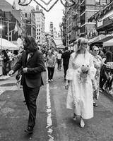 morgan jon paul wedding walking in street