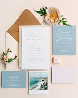 mykaela and brendon wedding invitation stationary suite
