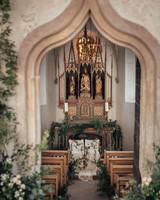 natalie paul wedding ceremony chapel decor