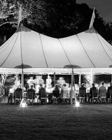 night wedding idea lighting up tent