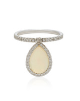 white opal and white gold flip engagement ring