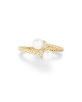 """David Yurman """"Solari"""" 18-Karat Gold Ring with Diamonds"""