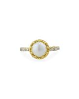 "Jude Frances ""Provence"" 18-Karat Pearl and Diamond Ring"