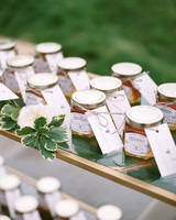 pillar paul wedding favors honey