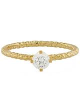 Satomi Kawakita Homespun Diamond Solitaire Ring