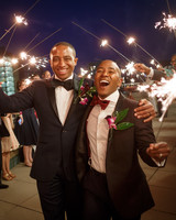 grooms sparkler wedding exit
