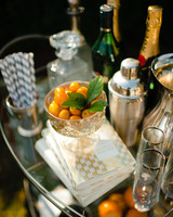 Silver Wedding Bar Cart