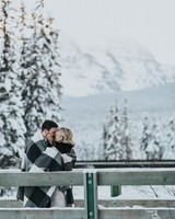 couple outside in winter