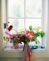 wide wedding bouquet