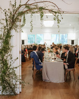 spring wedding large reception