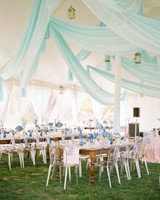 spring wedding elegant reception tent