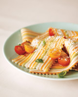 Colorful Pasta on Plate