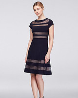 sheer stripe black dress