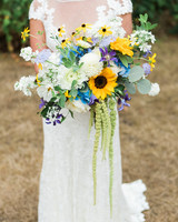 sunflower bouquet with dahlias