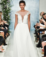 theia cap sleeve a-line wedding dress fall2018