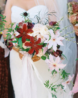 cascading wedding bouquet