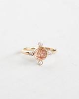 rose cut sunstone unique engagement ring