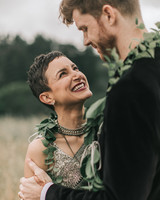 zai phil camping wedding couple close up gaze smile
