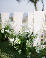 adrienne cameron wedding aisle white flowers