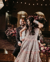 wedding reception dance bride glamours gown