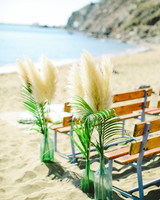 pampas grass aisle decorations