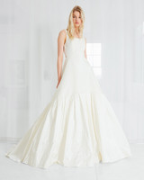 amsale a-line simple wedding dress spring 2018