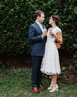 amy nick wedding ice cream couple