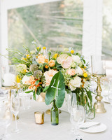 anuja nikhil wedding colorful centerpiece
