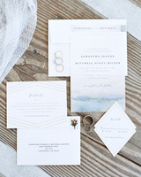 beach wedding invitations sweet simplicity blue