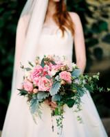 pink wedding bouquet berries